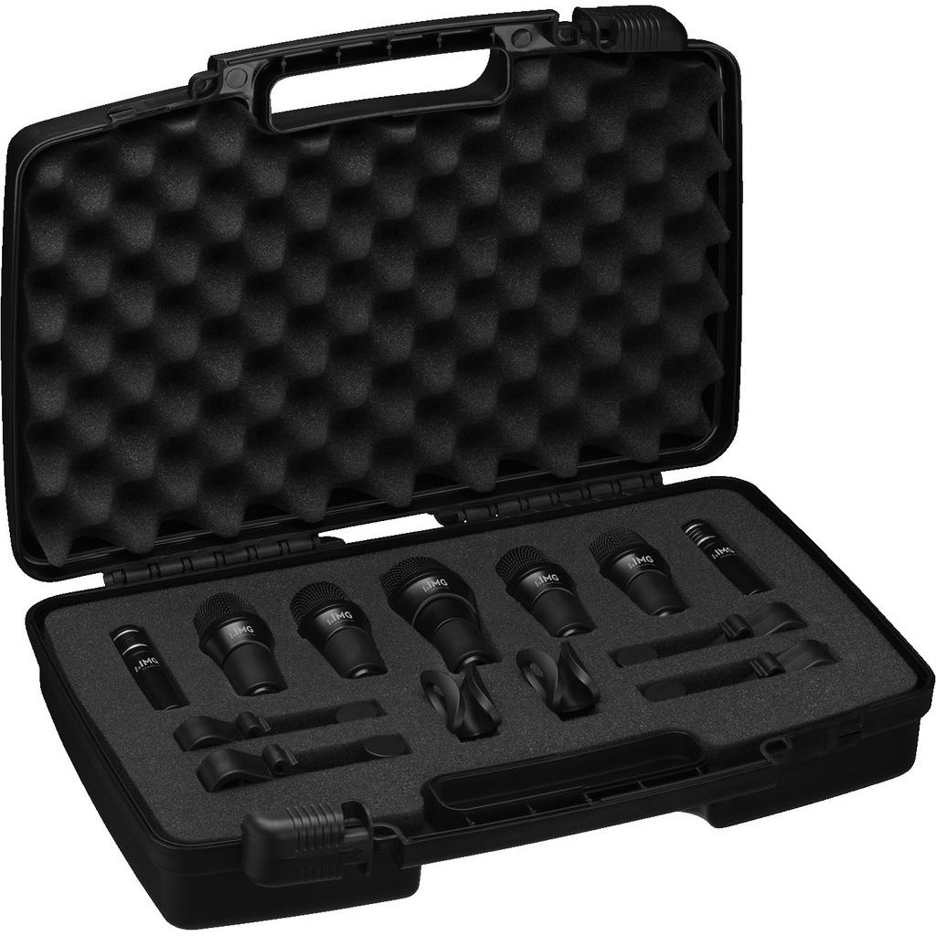 Набор микрофонов для ударной установки (инструментальные микрофоны) IMG Stageline DRUMSET-1