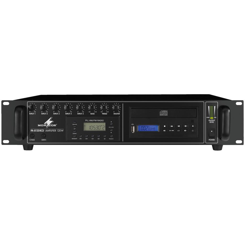 Трансляционный микшерный усилитель Monacor PA-8120RCD