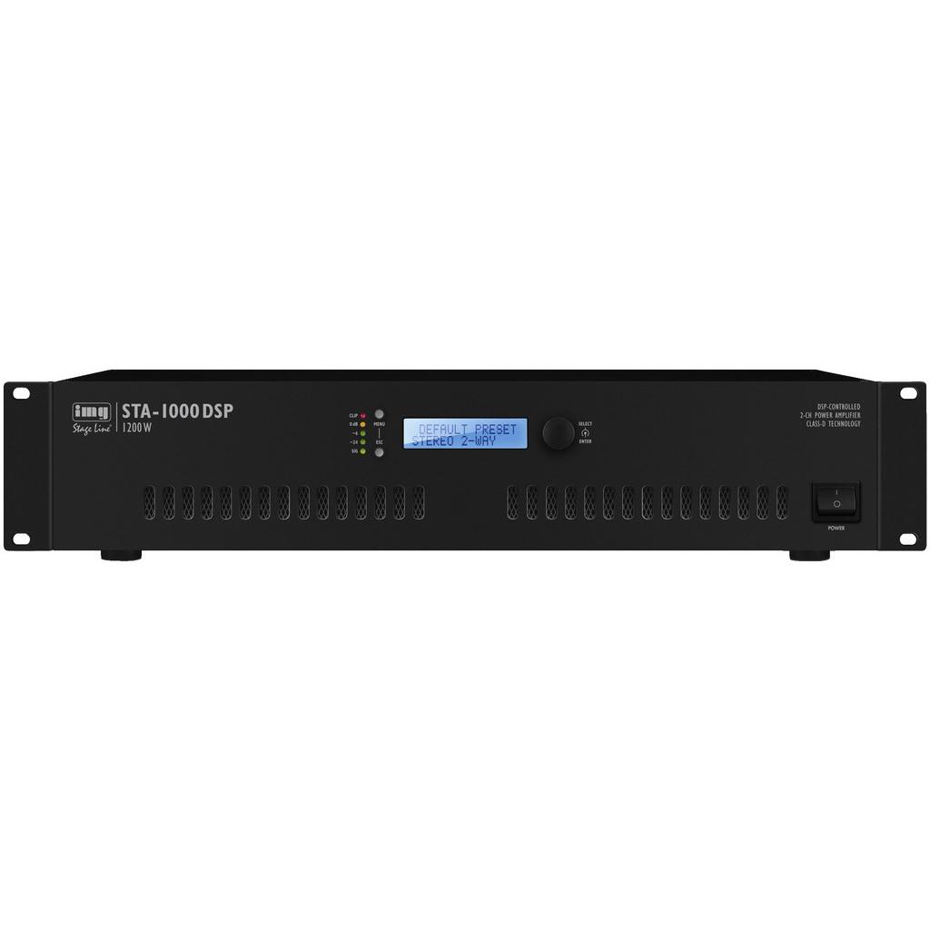Цифровой стерео усилитель с DSP IMG Stageline STA-1000DSP