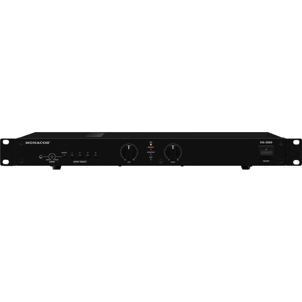 Профессиональный цифровой стерео усилитель мощности Monacor STA-200D