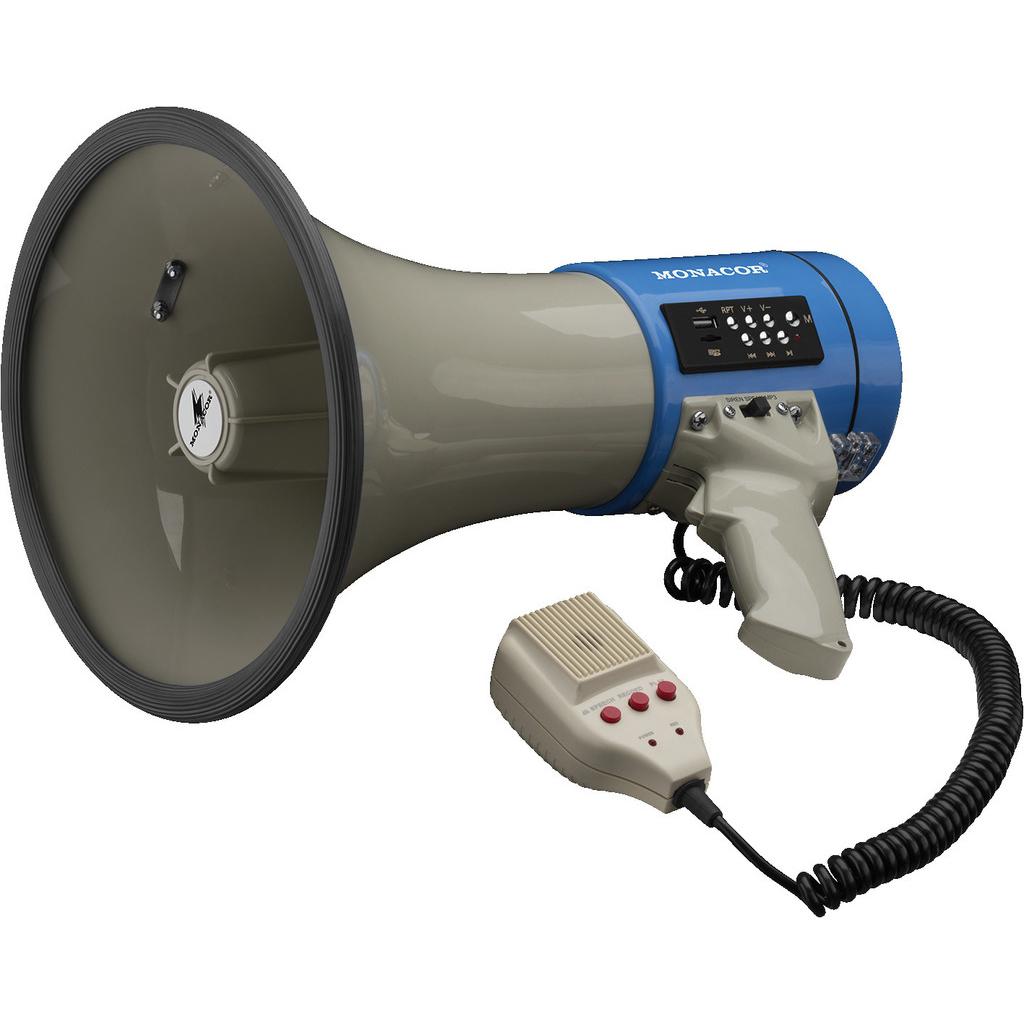 Рупорный ручной громкоговоритель (мегафон) Monacor TM-17M