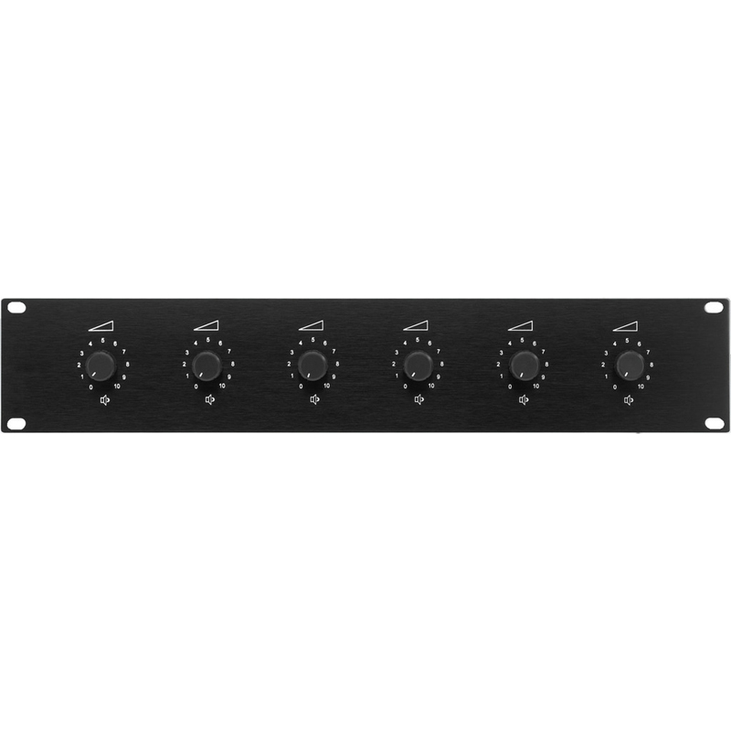 6 полосные регуляторы громкости Monacor ATT-19100